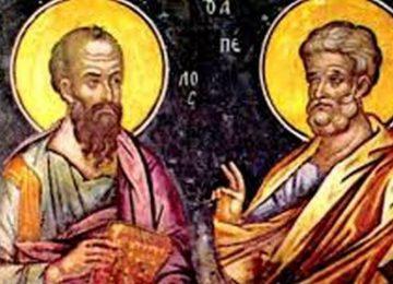 Πέτρου και Παύλου: Ο εναγκαλισμός των Αγίων Αποστόλων – 29 Ιουνίου
