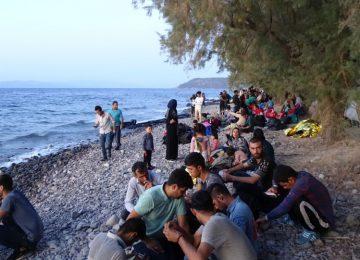Μυτιλήνη: Πάνω από 500 μετανάστες πέρασαν στη Λέσβο με 13 φουσκωτές λέμβους