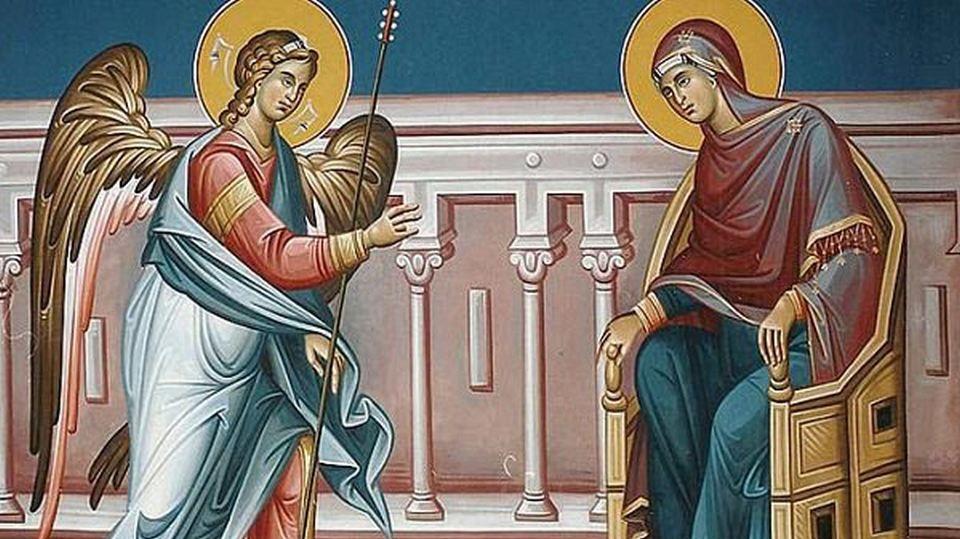 Ευαγγελισμός της Υπεραγίας Θεοτόκου – Γιορτή σήμερα 25 Μαρτίου – Ποιοι γιορτάζουν