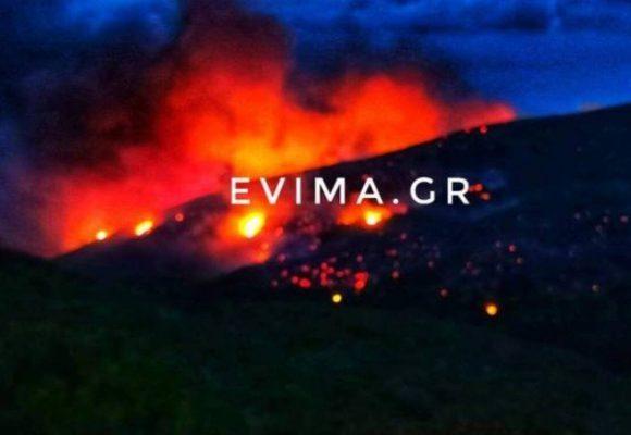 Συναγερμός ΤΩΡΑ στην Εύβοια: Μεγάλη φωτιά στο Ρεούζι