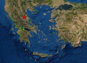 ΣΕΙΣΜΟΣ ΤΩΡΑ: 6 ρίχτερ ταρακούνησαν κεντρική και δυτική Ελλάδα – Αισθητός και στην Αττική